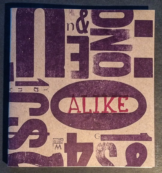 Cover of Alike, a hand made book by Paul Nylander