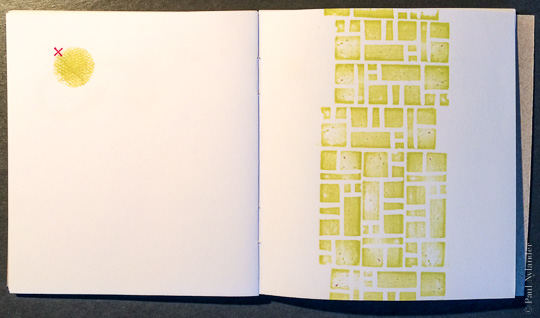 Page from Alike, a hand made book by Paul Nylander
