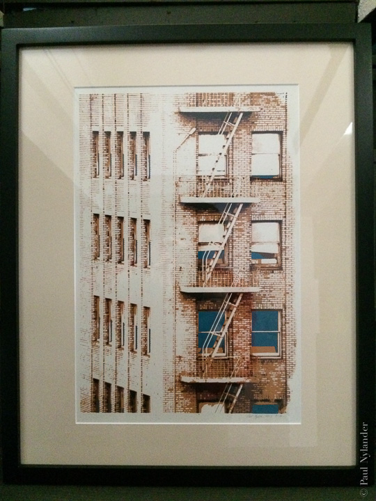 A screen printed rendition of the Fire Escape