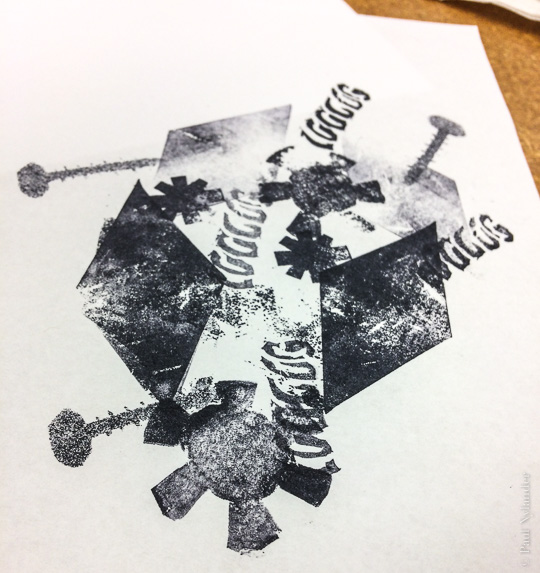 Tinker-Thinker printed from stencils ©Paul Nylander