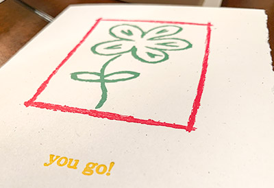 You Go! Letterpress card printing is fun